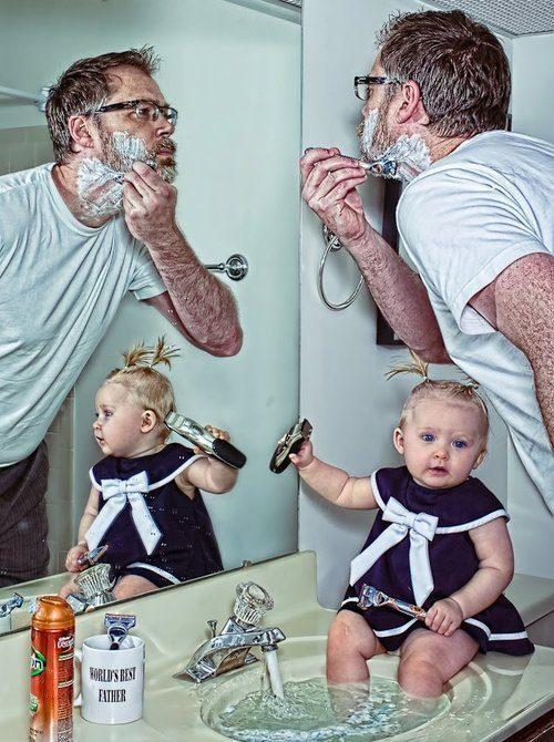 10-increibles-fotos-que-un-padre-hizo-a-su-hija-dave-y-annie-afeitandose