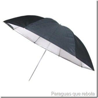 Paraguas que rebota la luz
