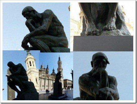 el pensador angulos fotografia