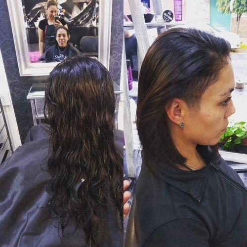 Corte de pelo mohicano para mujer