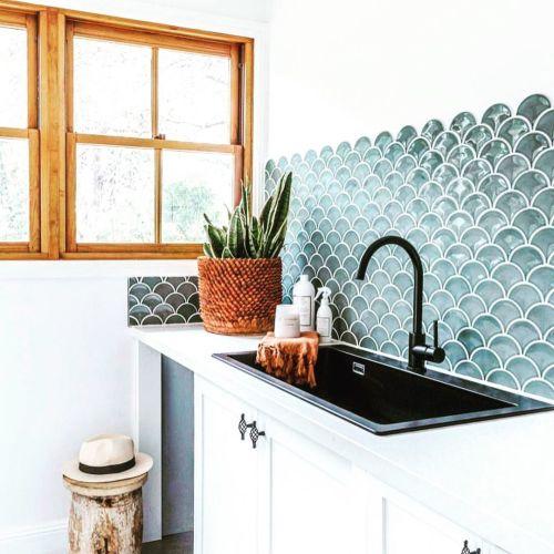 Cocina diseño de burbujas en la pared