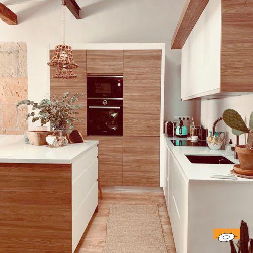 Cocina moderna en madera