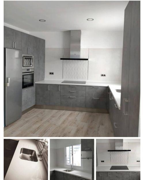 Cocina moderna en gris piedra
