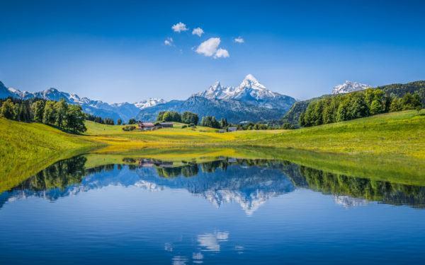 Fotos espectaculares de reflejos montanas alpes