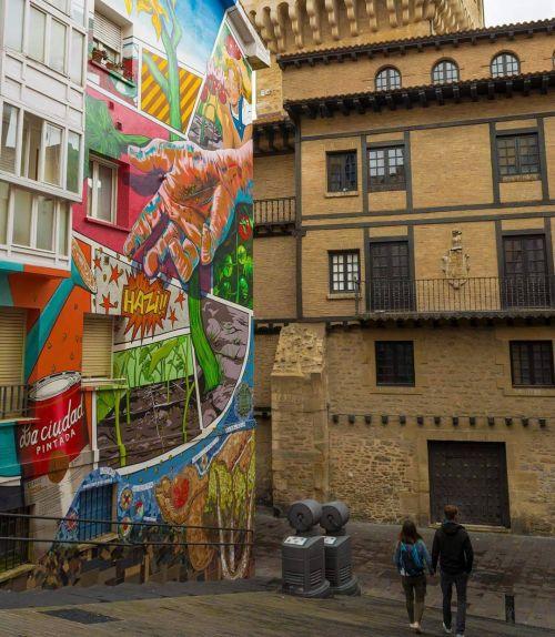Arte urbano en la fachada