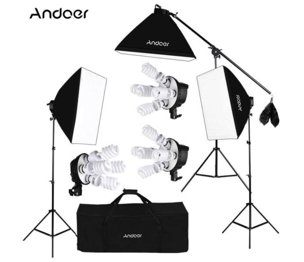 Kit de iluminación Andoer Softbox
