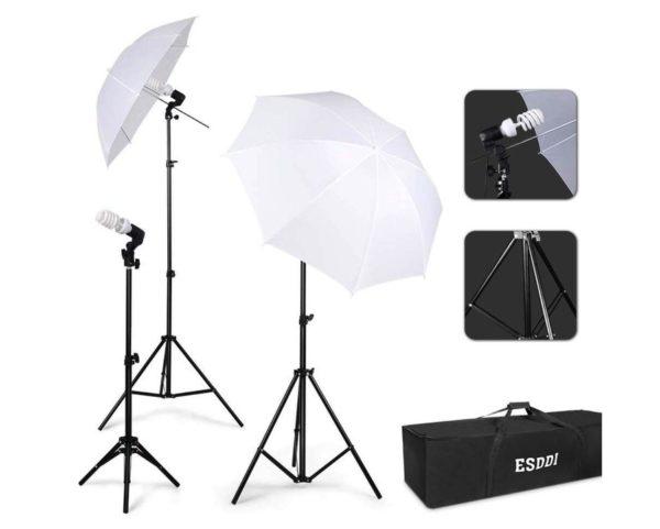 Kit de estudio fotográfico portátil ESDDI