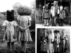 Las espeluznantes fotos de disfraces de Halloween de antes