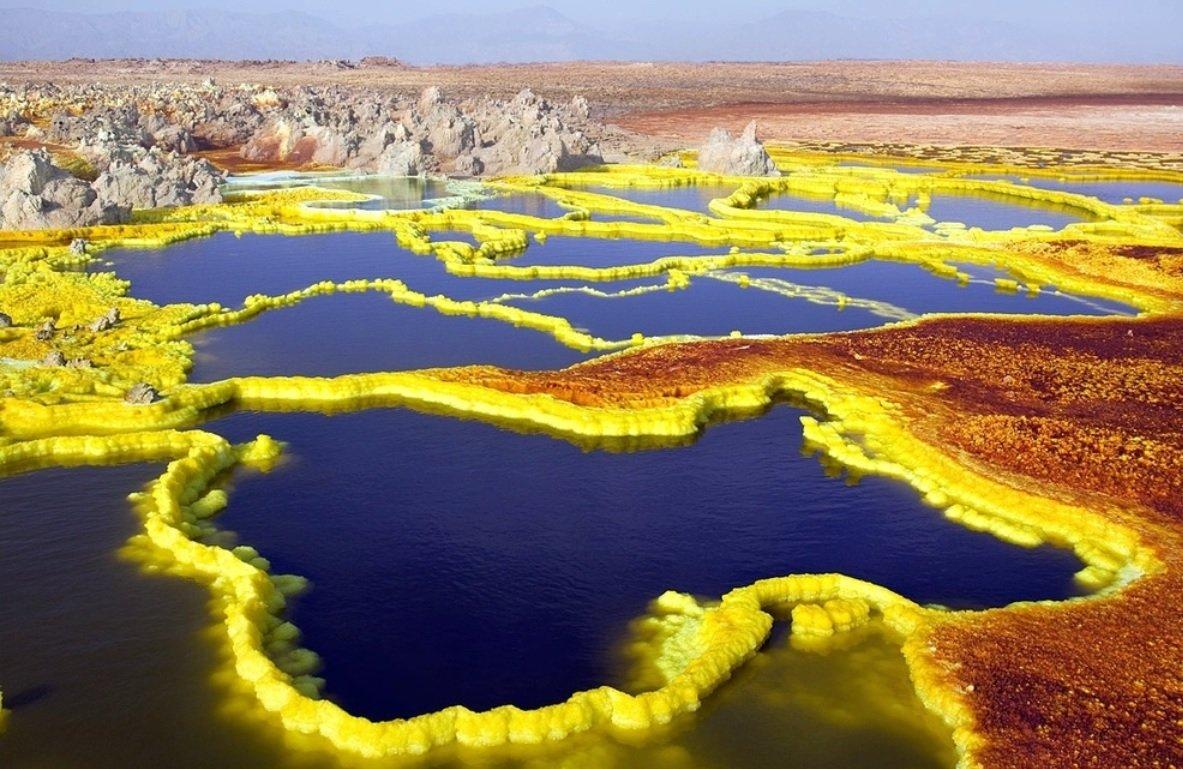 las-fotos-de-los-10-de-lugares-de-la-tierra-que-parecen-de-otro-planeta-Crater volcánico Dallol en Etiopía