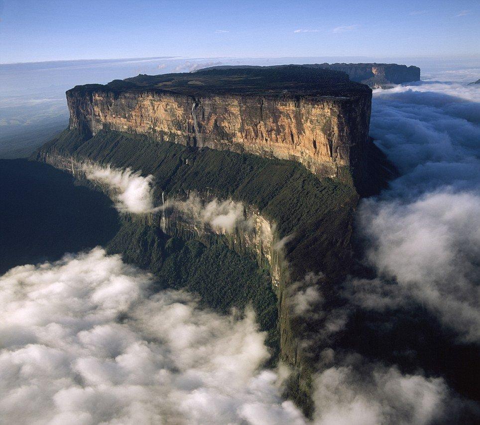 Aerial image of Tepuis, Venezuela South America: Mount Roraima (
