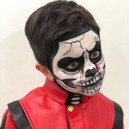 Niño maquillaje de Muerte