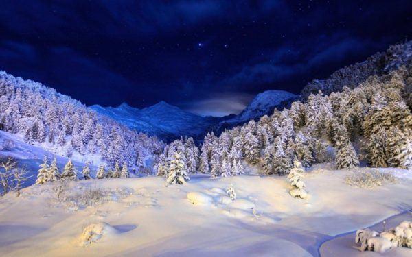 las-mejores-fotos-de-paisajes-nevados-noche