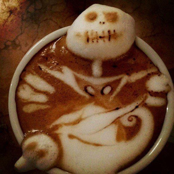 las-mejores-fotos-del-arte-con-cafe-arte-latte-arte-latte-pesadilla-antes-de-navidad