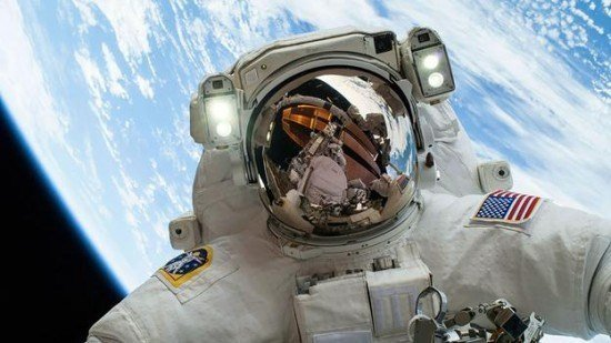 NASA handout of astronaut Hopkins, participating in the second of two spacewalks