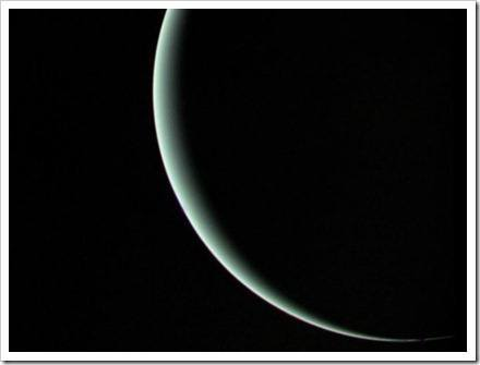 luz desapareciendo tras el planeta
