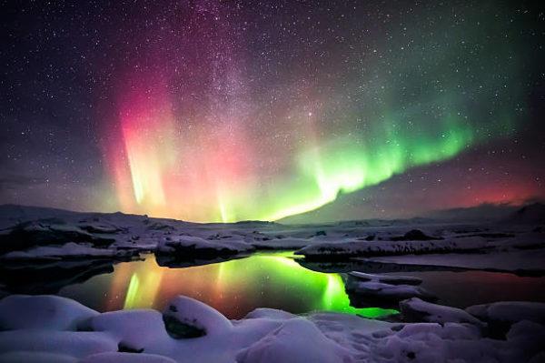 Mejores fotos de auroras boreales colores