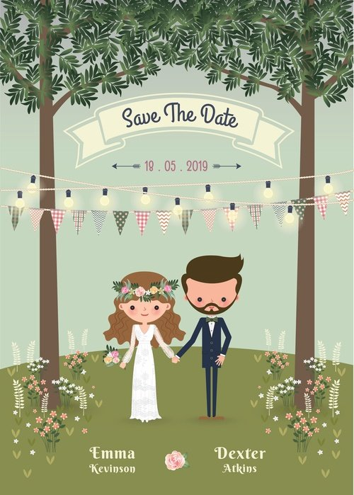 Mejores fotos novios dibujos boda