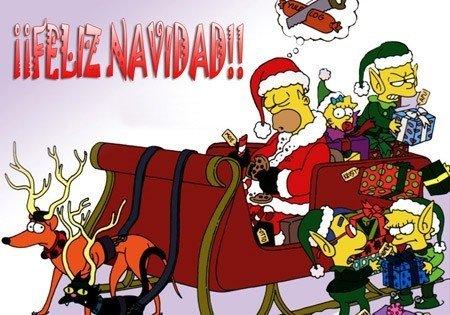 postal-de-navidad-de-los-simpson