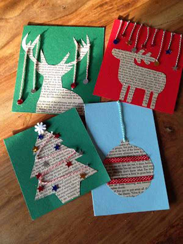 postales-de-navidad-reno-arbol-estrella