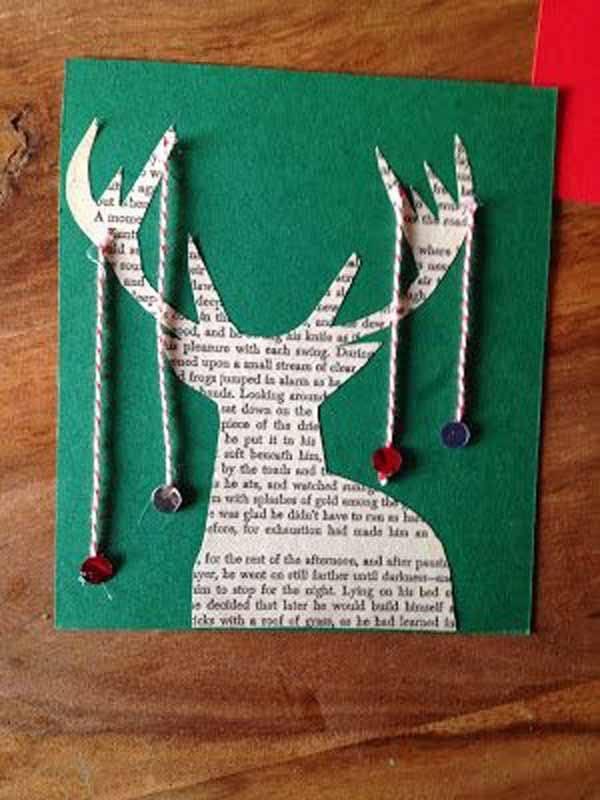 postales-de-navidad-reno-con-cuerdas