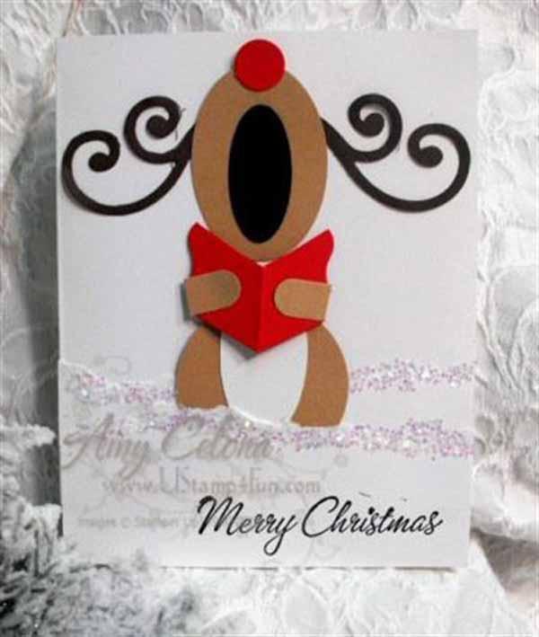 postales-de-navidad-reno
