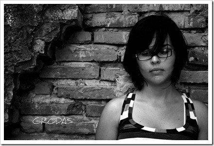 retrato con lentes
