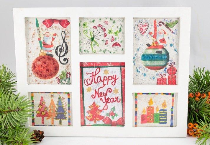 Tarjetas navidenas hechas a mano de colores