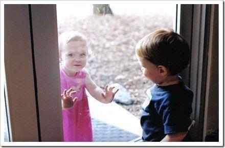 ventana niños
